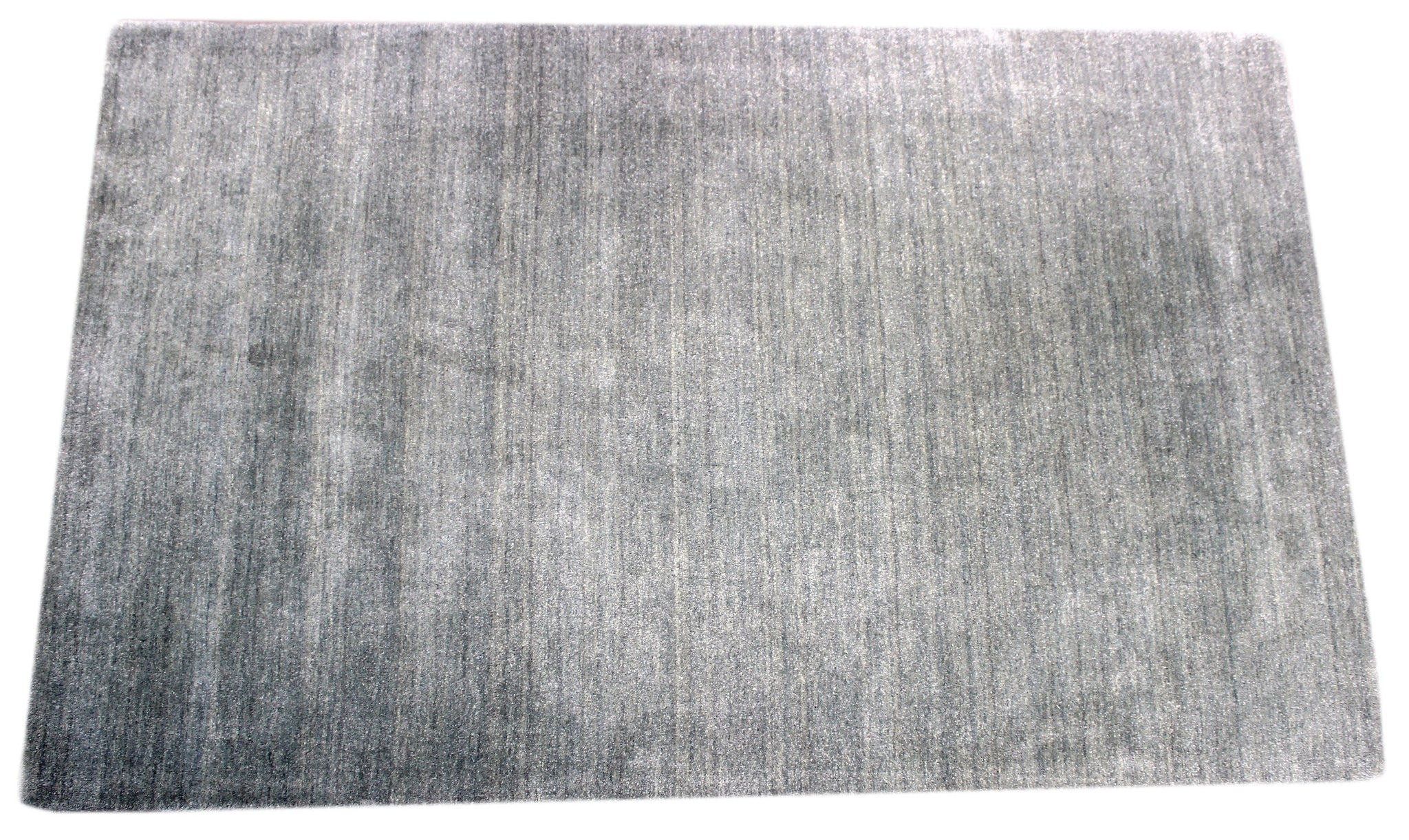 Silver Handmade Area rug by verve hand-made