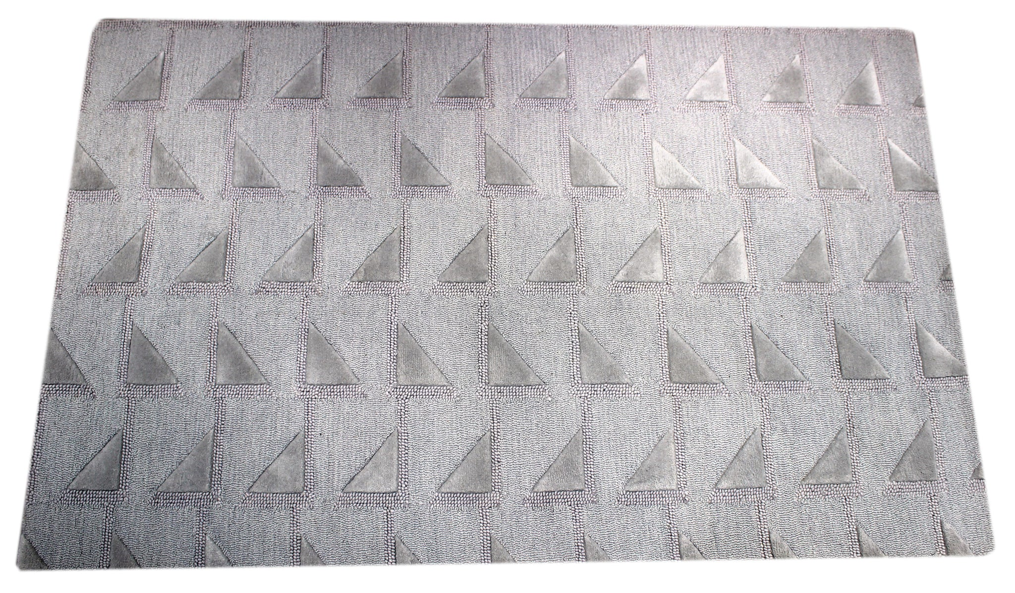 Silver Triangle handmade area rug by verve hand-made