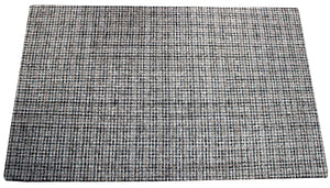 Silver checkered handmade rug by verve hand-made