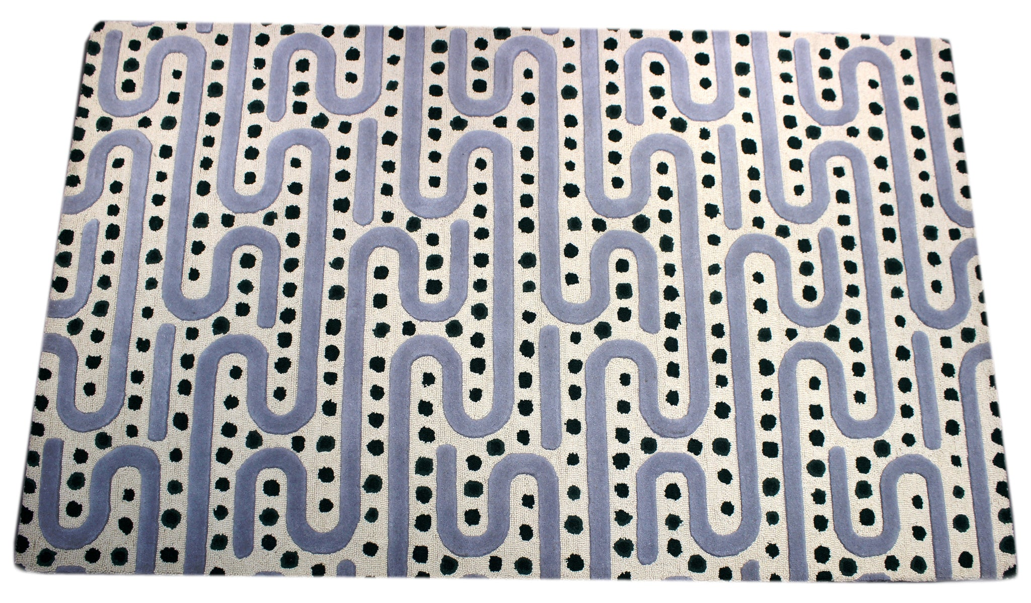 Maze Gray Handmade Area Rug by verve hand-made