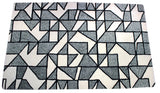 Silver abstract handmade area rug by verve hand-made