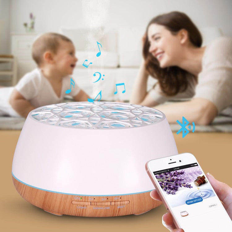 App Remote Controlled Essential Oil Humidifier Music Bluetooth Speaker
