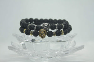 Open image in slideshow, Roar Lion Head Bracelet