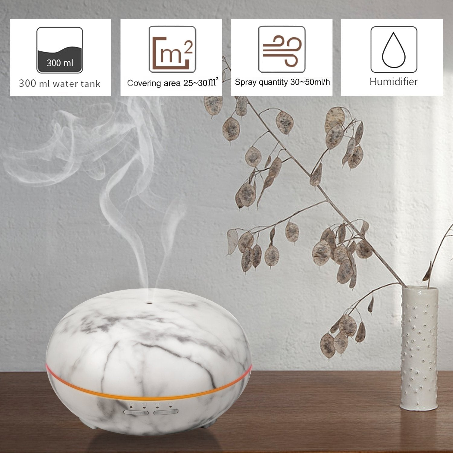 Bloom Room 300 Ml Essential Oil Marble Gx Diffuser