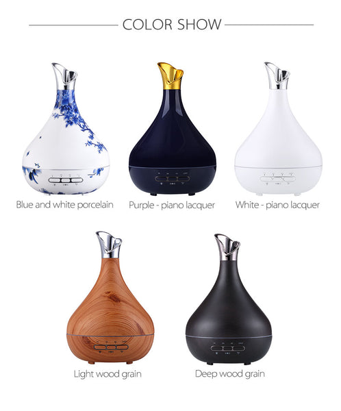 Private Label Smart Plug In Light Bottle Ultrasonic Aroma Essential Oil Diffuser