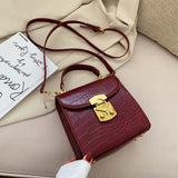Mini Stone Pattern PU Leather Crossbody Bags