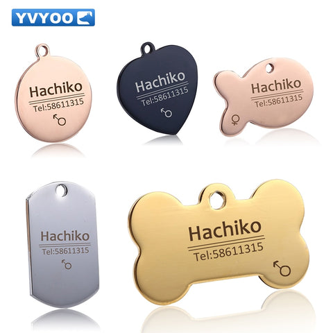 YVYOO Free engraving Pet Dog cat collar accessories