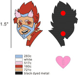 "1.5"" Trans!Red Riot Hero Pins"