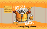 "Candy Corn Fat Gum 3"" Candy Bag Charm"
