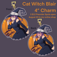 "Cat Witch Blair 4"" Charm"