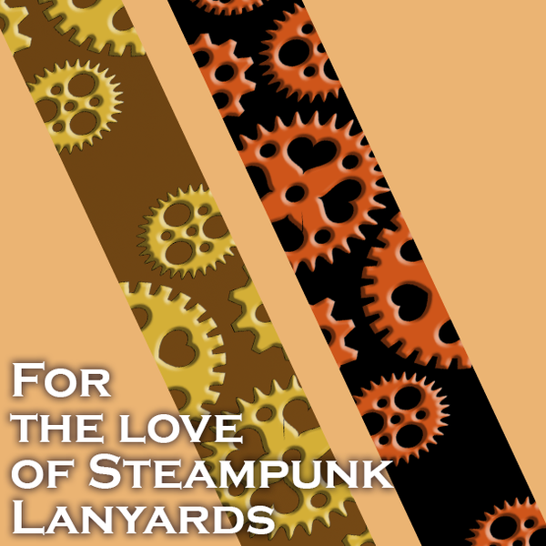 For the Love of Steampunk Lanyard
