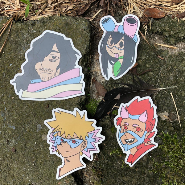 Trans!MHA Heroes Stickers
