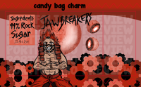 "Jawbreakers Red Riot 3"" Candy Bag Charm"