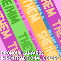 Nontraditional NB Pronouns Lanyard