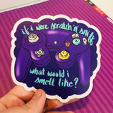 """If I were Scratch and Sniff..?"" GameCube Controller Sticker"
