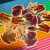 "Poison Frog Pride 3"" Stickers"