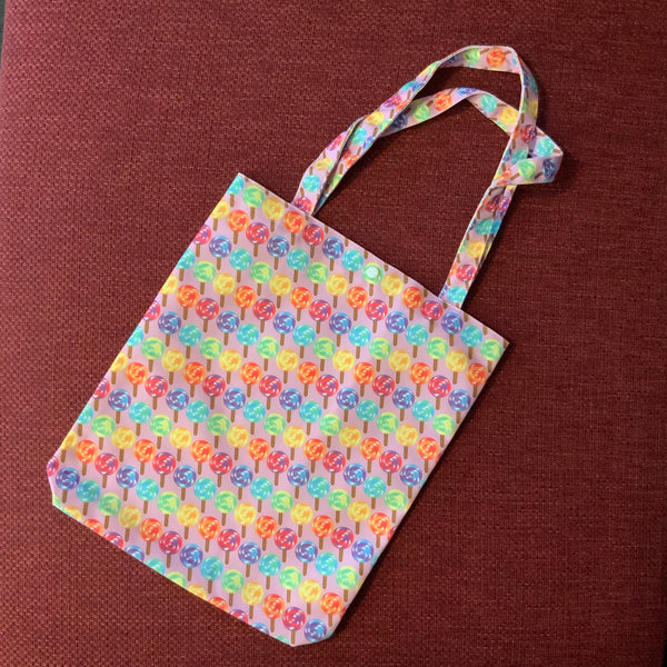 Rainbow Lollipop Mauve Tote