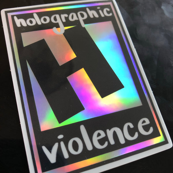 Holographic Violence Stickers