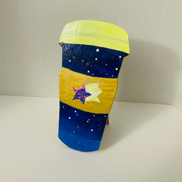 Starry Sky Latte Wooden, Easel-Type Standee