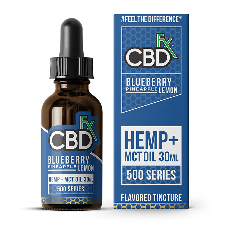 Hemp Oil Tincture 500MG Blueberry Pineapple Lemon