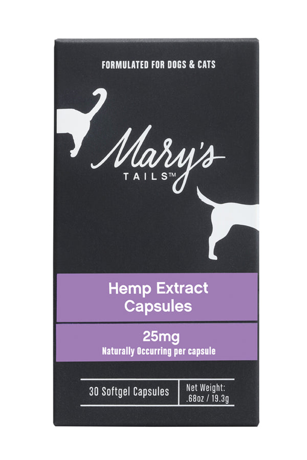Mary's Tails Hemp Extract Capsules 25mg