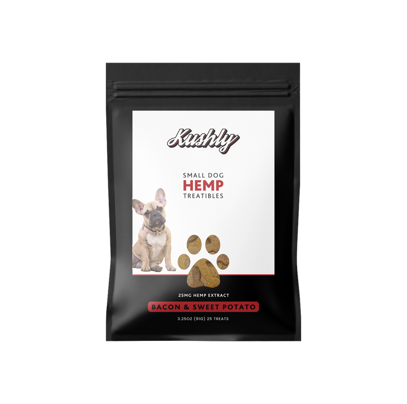 Kushly CBD Small Dog Hemp Treats - Bacon & Sweet Potato