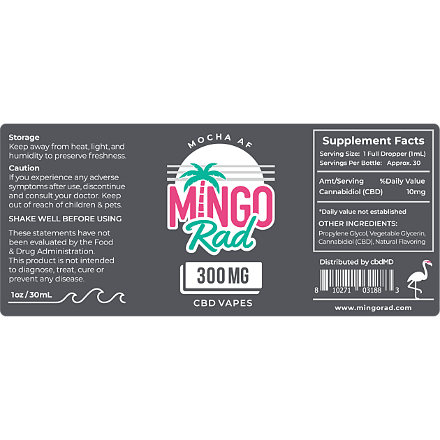 cbdMD Mingo Rad hemp Vape Oil 300mg