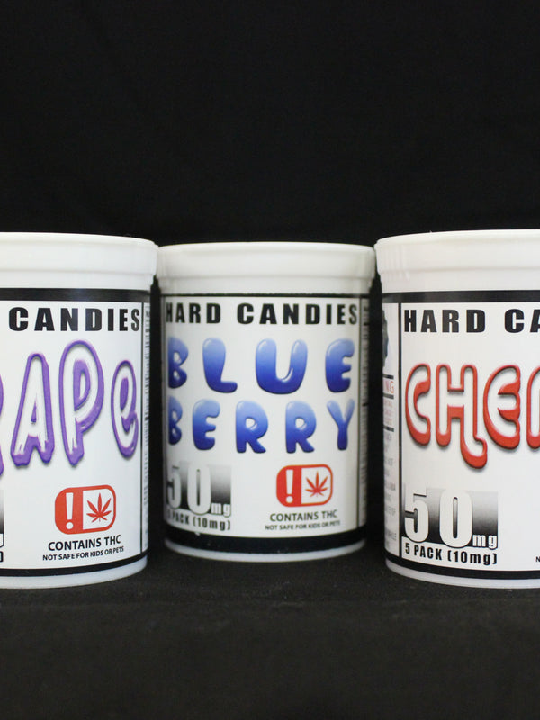 HARD CANDIES (5 PC.) - THC: 50 MG