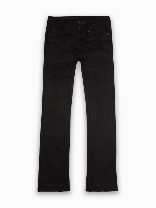Black Raw Western Denim