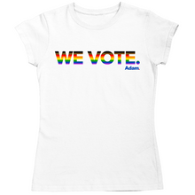 Load image into Gallery viewer, We Vote Fitted Pride T-Shirt