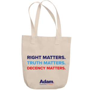 Adam Schiff Right, Truth, Decency Matters tote