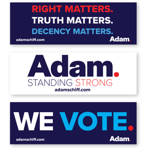 Adam Schiff Bumper Sticker