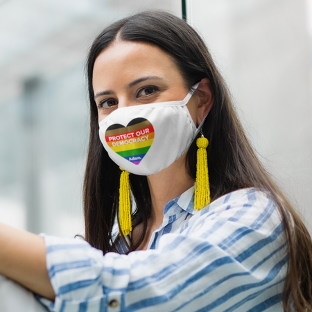Protect Our Democracy Pride Mask