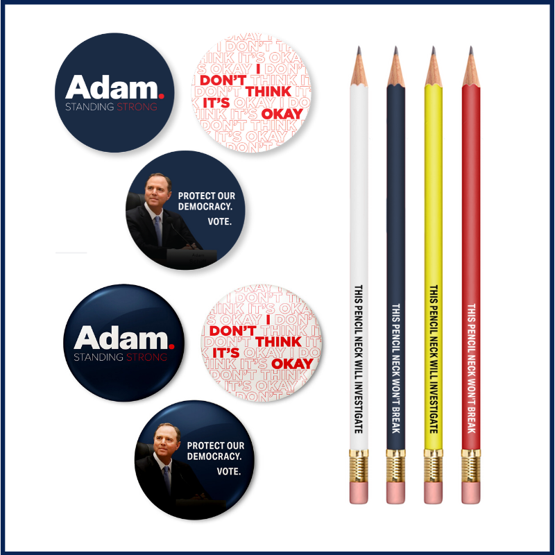 Adam Schiff for Congress Starter Pack