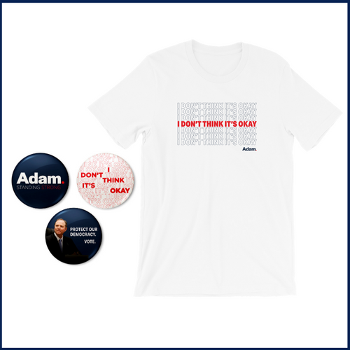 Adam Schiff for Congress Tee and Button Bundle