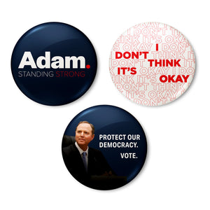 "Adam Schiff for Congress 1.5"" Button Pack"
