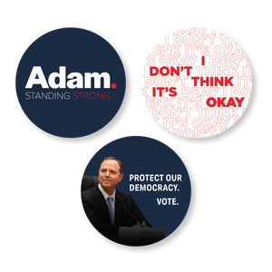 "Adam Schiff for Congress 3"" Sticker Pack"