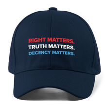 Load image into Gallery viewer, Adam Schiff Right, Truth, Decency Matters hat