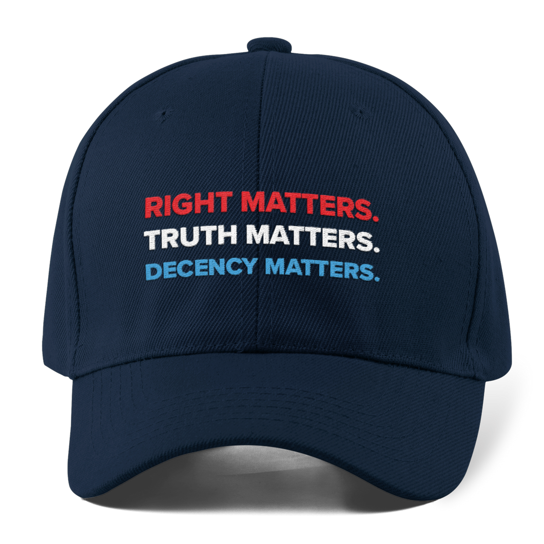 Adam Schiff Right, Truth, Decency Matters hat
