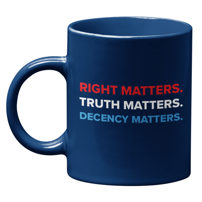 Adam Schiff Right, Truth, Decency Matters mug