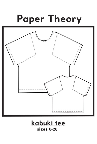 technical drawing of Kabuki tee Pattern by Paper Theory