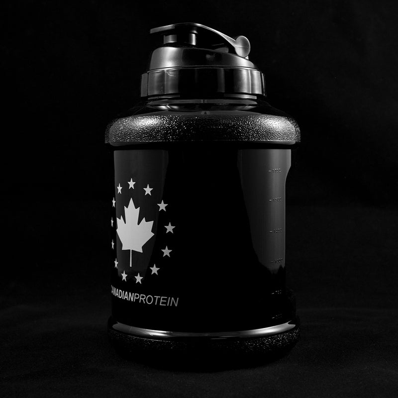 Mammoth Mug - Solid Black - White Canadian Protein Logo