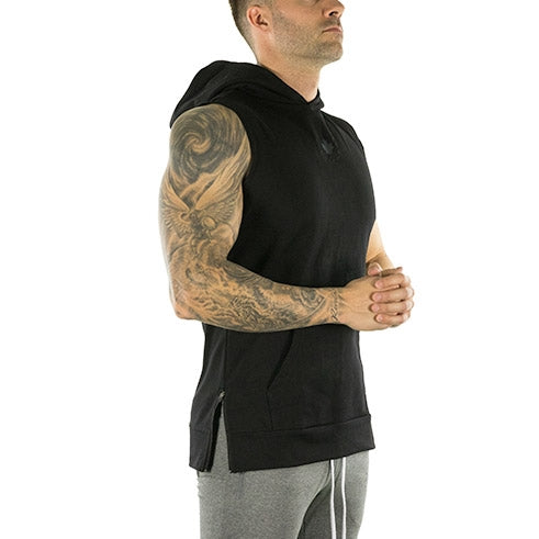 Sleeveless Tech Hoodie (Onyx Black)