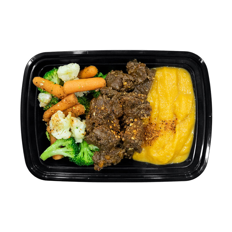 Beef Tenderloin, Sweet Potato and Mixed Vegetables