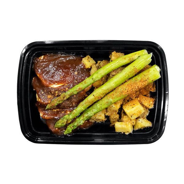 Signature BBQ Chicken, Oven-Roasted Potatoes and Grilled Asparagus
