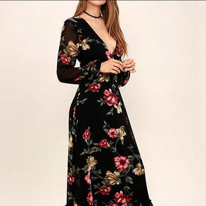 The 10 Most Stylish Maxi Dresses With Long Sleeve For Fall