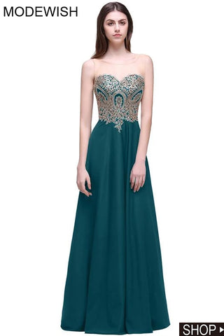 Modewish Women's Gorgeous Floor Length Bridesmaid Dress