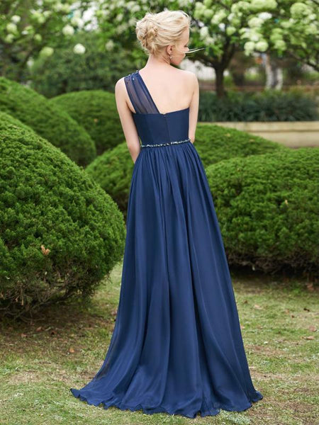Modewish Women's Stunning Sleeveless Long Bridesmaid Dress