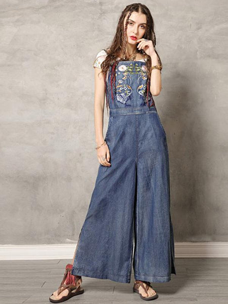 2020 Summer New Original Fashion Vintage Embroidery Rompers