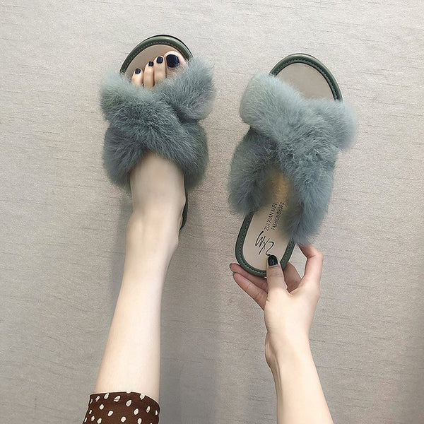 Comfortable Wild Cute Cotton Fluffy Slippers